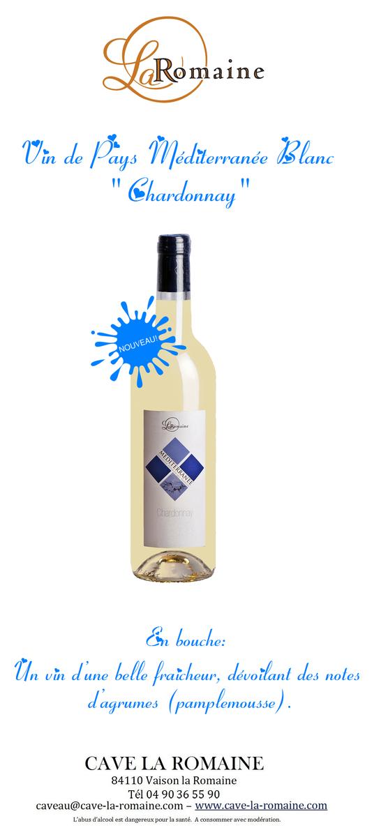 vin de pays blanc chardonnay cave la romaine